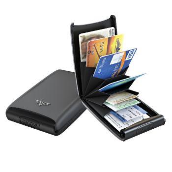CREDIT CARD CASE FAN TAUPE ROCK